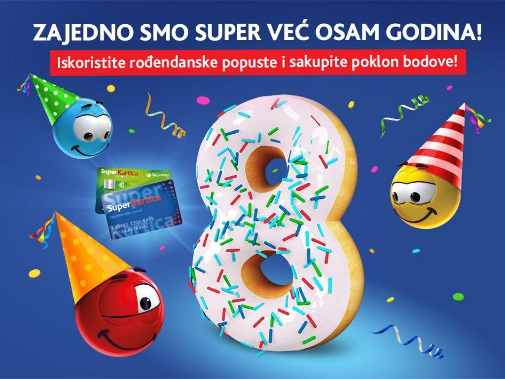 Super Kartica slavi 8. rođendan sa vama!