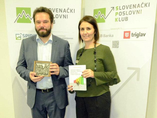 Svyatoslav Biryulin und Danijela Fisakov, Präsident des Slovenian Business Club