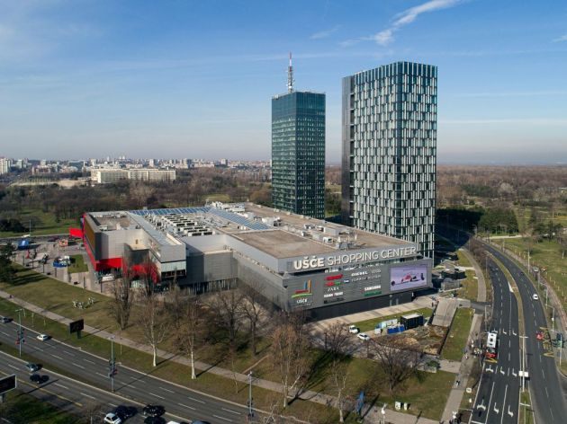 Direct purchasing has a future, as does office work: Shopping Center Usce with two business towers