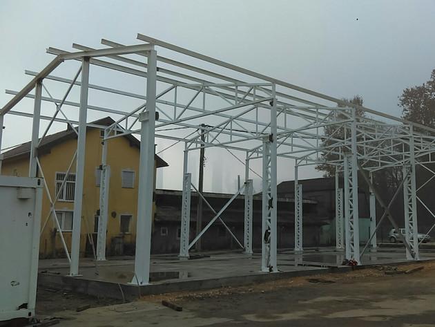 Montaža nove hale u Bukinju