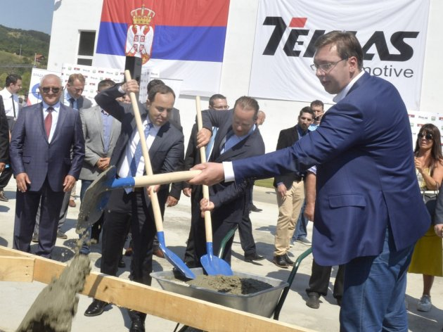 Teklas Automotive starts construction of new facility in Vladicin Han - Turks are also building a swimming pool for employees