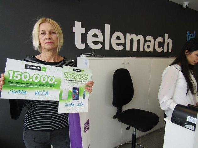 Telemach nagradio jubilarnog korisnika