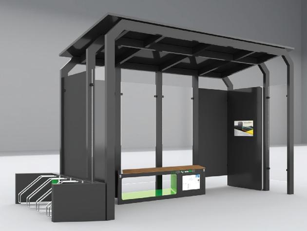 Banjaluka-grad budućnosti - CIDEA dizajnirala pametno autobusko stajalište sa turističkim info displejem