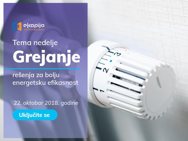 """THEMA DER WOCHE: """"Heizung - Lösungen für bessere Energieeffizienz"""" am 22. Oktober auf eKapija"""