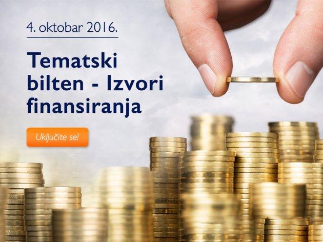 Kako do novca za pokretanje i unapređenje poslovanja - Tematski bilten eKapije o izvorima finansiranja stiže 4. oktobra