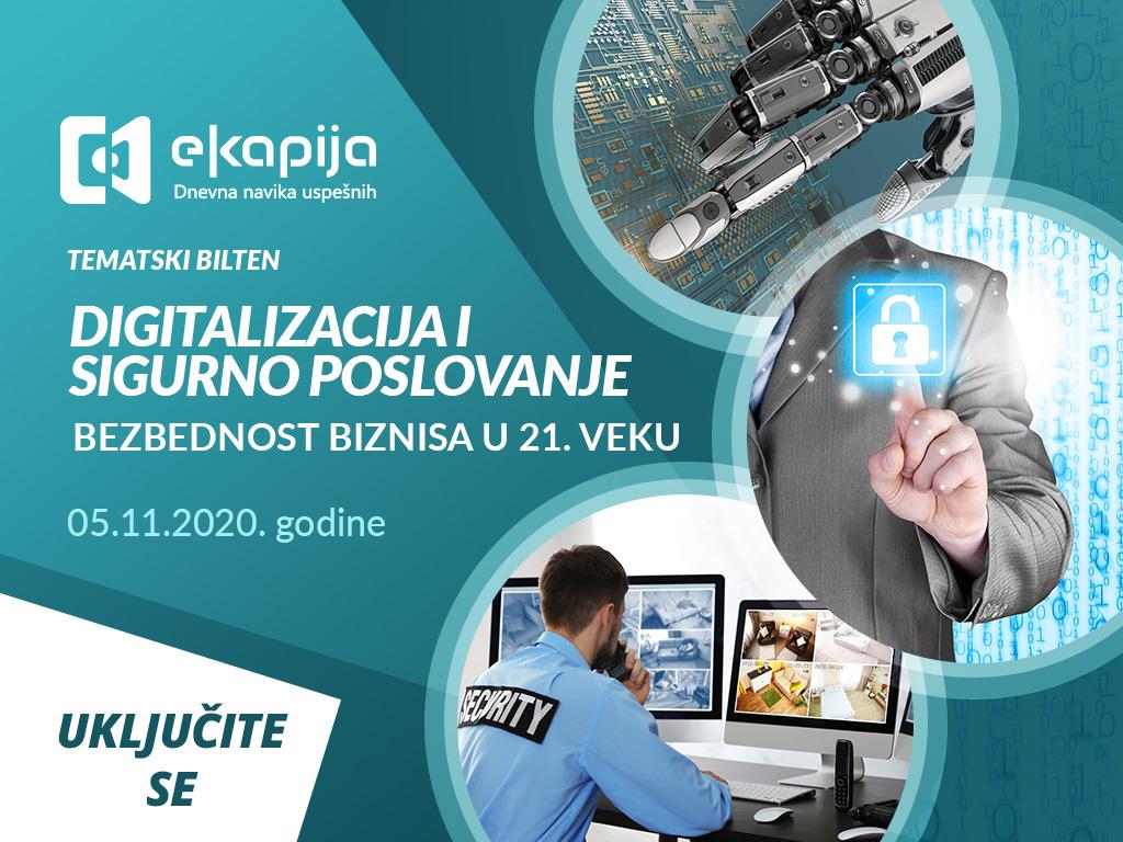 Bezbednost biznisa u 21. veku - Novo izdanje tematskog biltena 5. novembra na eKapiji