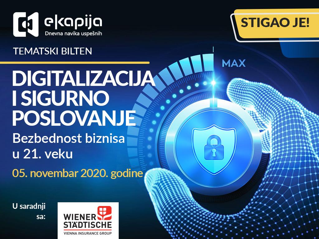 Digitalizacija i sigurno poslovanje - Predstavljamo vam novi tematski bilten eKapije