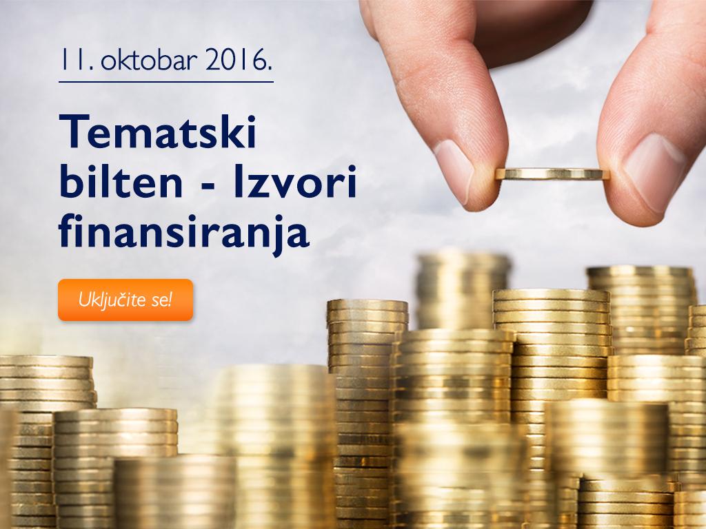 Kako do novca za pokretanje i unapređenje poslovanja - Tematski bilten eKapije o izvorima finansiranja stiže 11. oktobra