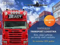 """Tematski bilten """"Transport i logistika - Brže, dalje i jeftinije po zemlji, vodi i vazduhu"""" 26. novembra na eKapiji"""