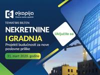 """Tematski bilten """"Nekretnine i gradnja - Projekti budućnosti za nove poslovne prilike"""" 31. marta na eKapiji"""