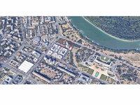 Bau eines Wohn- und Geschäftskomplexes auf 100.000 m2 mit zwei Türmen von je 95 m und Blick auf die Donau in der Nähe des Yu Business Centers in Novi Beograd geplant