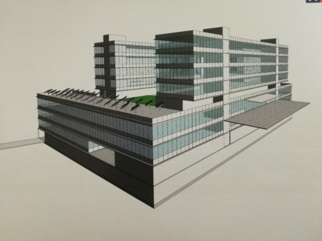 The planned look of the new children's hospital