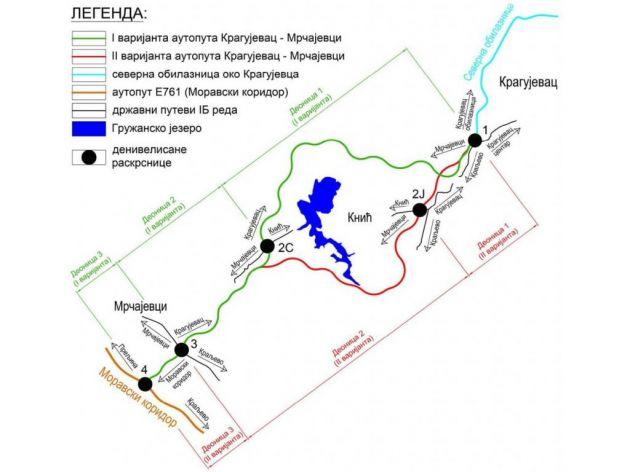 """<span class=""""VIiyi""""><span class=""""JLqJ4b><span>Die grüne Farbe markiert die angenommene Route der Schnellstraße"""