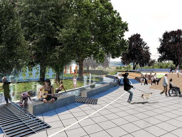 U planu nova zelena oaza u centru Broda - Pogledajte kako je zamišljeno uređenje Trga patrijarha Pavla (FOTO)