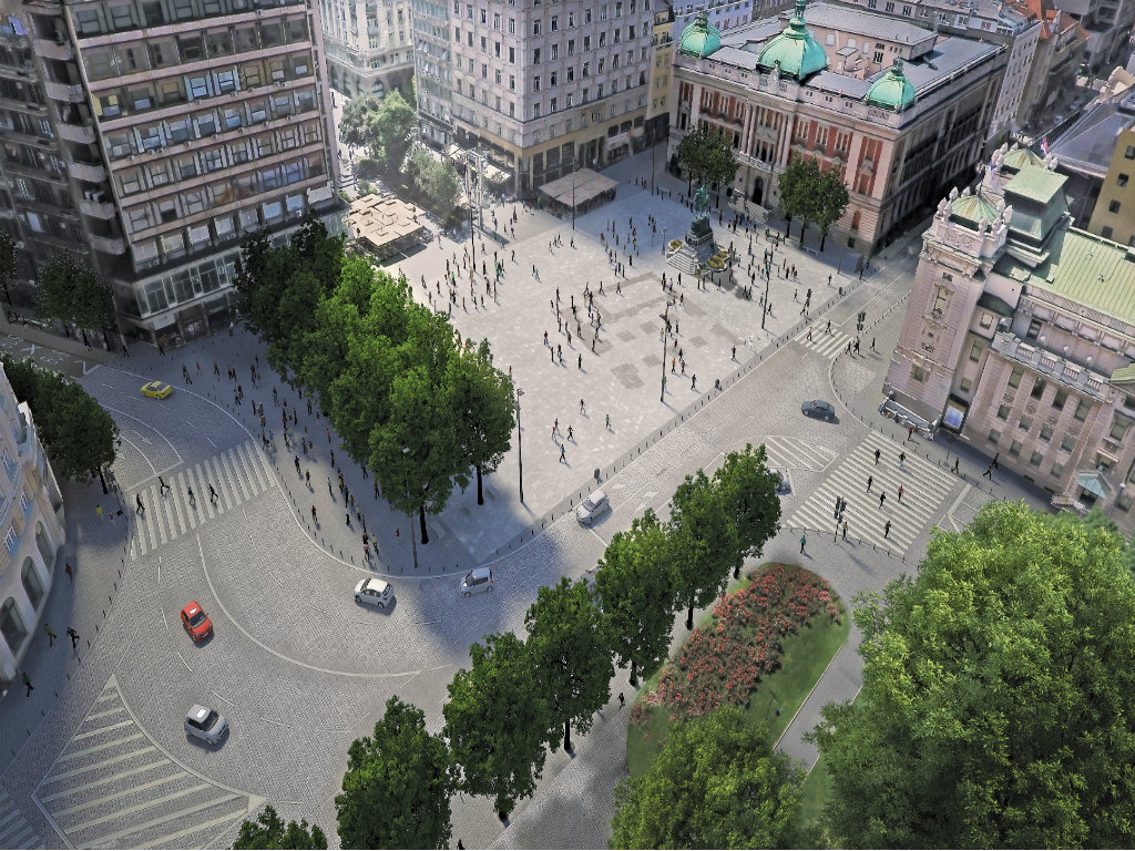 Future look of Republic Square – Belgrade center not to become pedestrian zone after all
