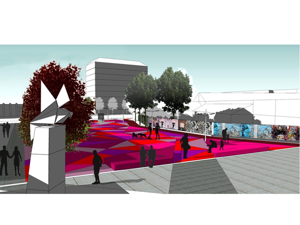 Colored asphalt like in Scandinavia - Take a look at how new city square in Sabac will look like (PHOTO)