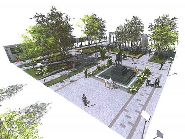 Planirani izgled trga u Dobanovcima