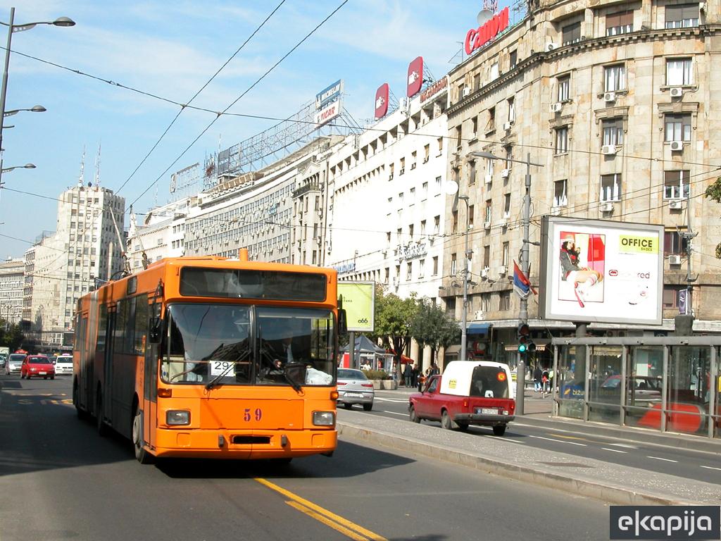 Počinje gradnja trolejbuske mreže do Dunavske i između Slavije i Kneza Miloša