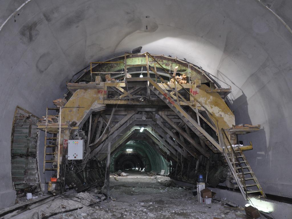 Probijanje tunela Počitelj tokom novembra