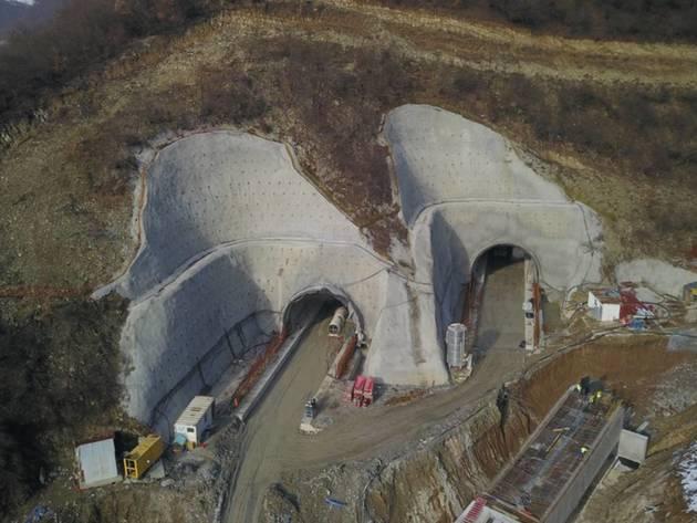 Tunel Zenica u izgradnji