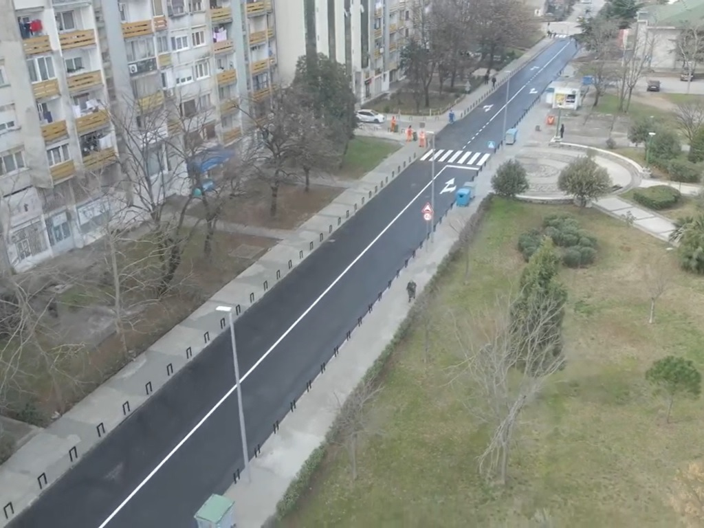 Završena rekonstrukcija Ulice Bracana Bracanovića u Podgorici - Uskoro radovi u Bulevaru Ivana Crnojevića