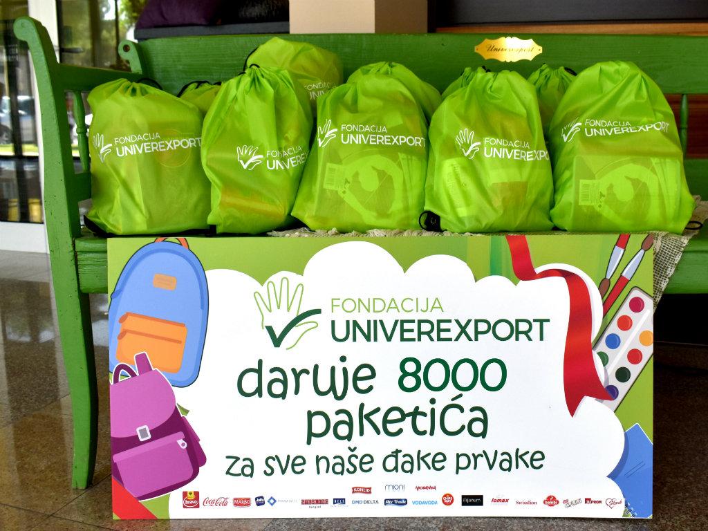 Univerexport Fondacija i ove godine sa đacima prvacima - Poklon paketi za preko 8.000 prvaka