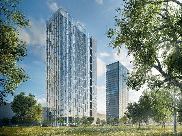 Wie das Hochhaus Ušće Tower Two aussehen wird