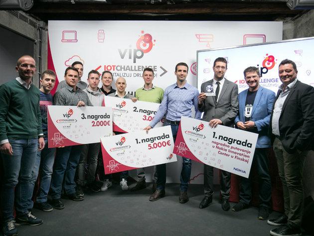 Proglašeni pobednici konkursa Vip IoT Challenge - Digitalizuj društvo