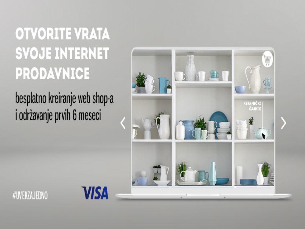 Banca Intesa i Visa nude besplatan e-commerce servis za male trgovce
