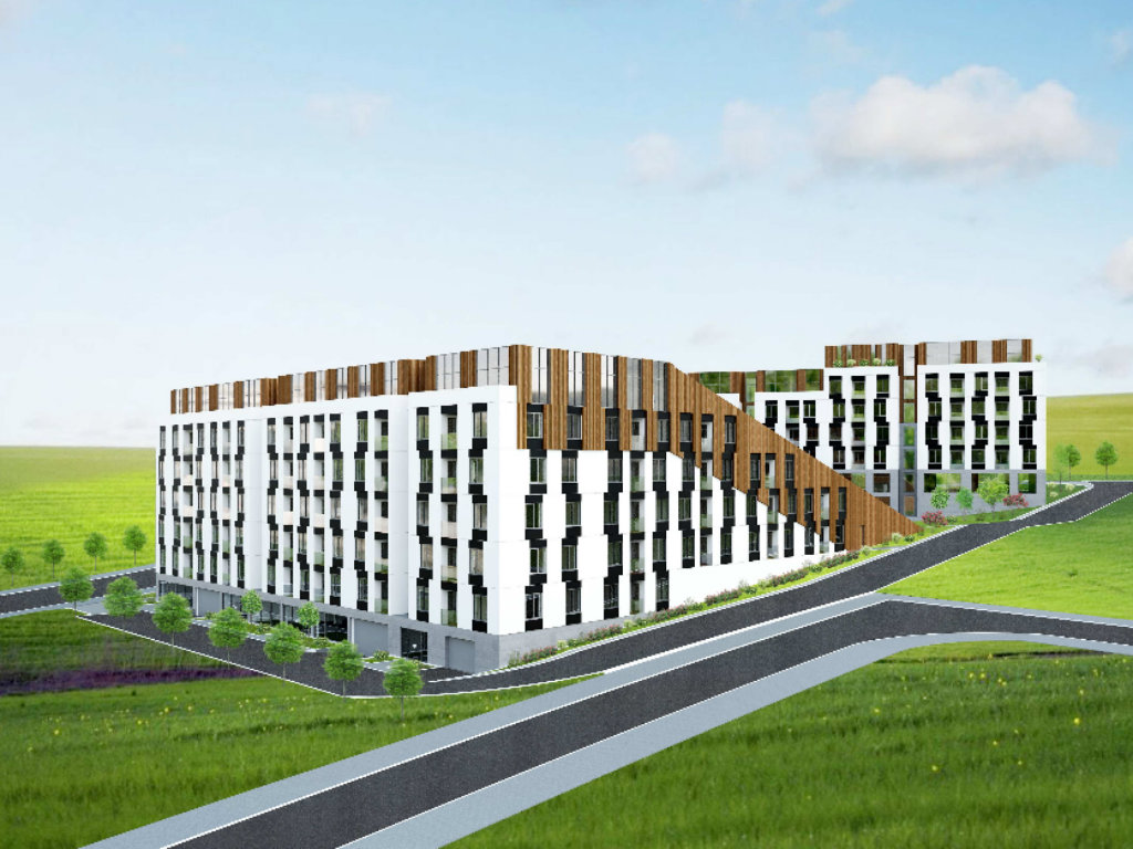 U planu stambeno-poslovni objekat u Višnjici - Četiri lamele sa 171 stanom, 13 lokala i hipermarketom
