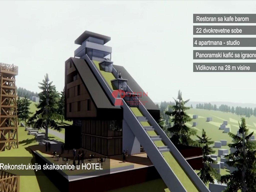 Hotel umjesto skakaonice, etnoselo i žičare - Pogledajte kako će izgledati novi sadržaji na Vlašiću (FOTO)
