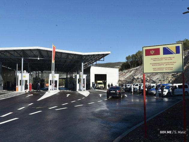 Otvoren zajednički granični prelaz Vraćenovići na putu Nikšić-Bileća (FOTO)
