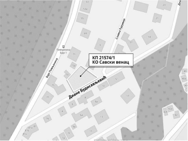 Na prodaju zemljište u beogradskom naselju Braće Jerković 2 namenjeno sportu i rekreaciji
