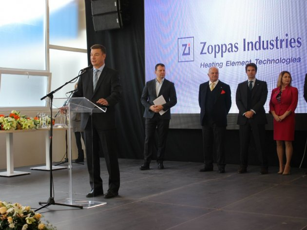 Sa otvaranja fabrike Zoppas u Kikindi