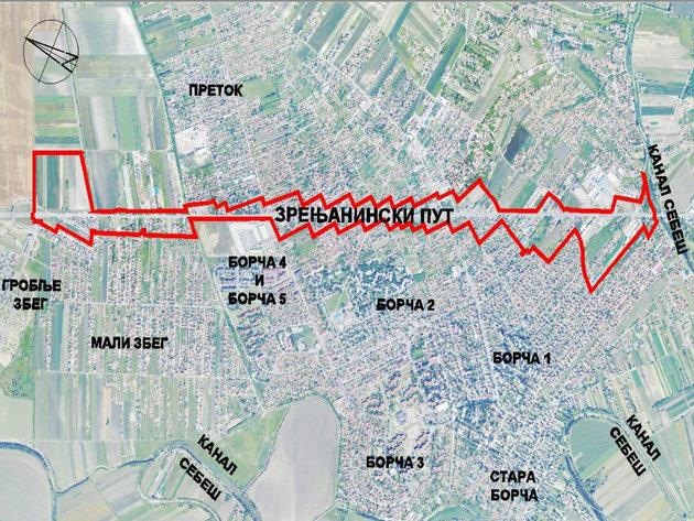 U planu rušenje objekata duž Zrenjaniskog puta od Sebeša do Severne tangente i proširenje saobraćajnice